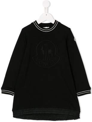 Moncler logo embroidered sweatshirt dress