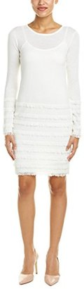 Trina Turk Women's Sass Long Sleeve Fringe Sweater Dress $54.99 thestylecure.com