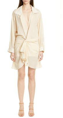 5074296a776 Jacquemus Alassio Long Sleeve Leno Shirtdress