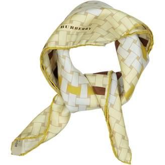 Burberry Beige Silk Silk handkerchief
