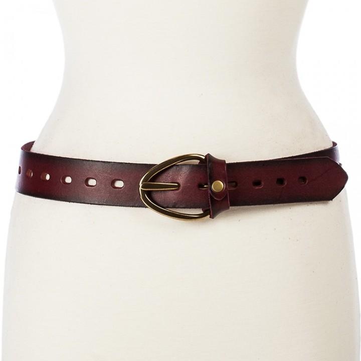 Linea Pelle Perry Split Strap Hip Belt with Oblong Buckle