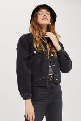 Topshop PETITE Cropped Oversized Jacket