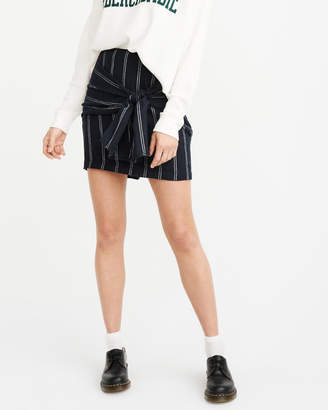 Abercrombie & Fitch Knot-Front Mini Skirt