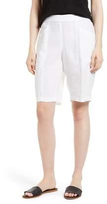 Eileen Fisher Organic Linen City Shorts