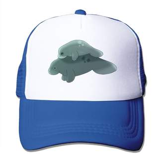 fa2bd653ebb Yzygf Cap Manatee and Baby Men Fashion Flat Rapper Adjustable Caps Digital  Printed Trucker Caps