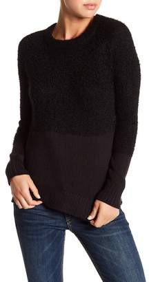 Michael Stars Mixed Yarn Crew Neck Sweater $168 thestylecure.com