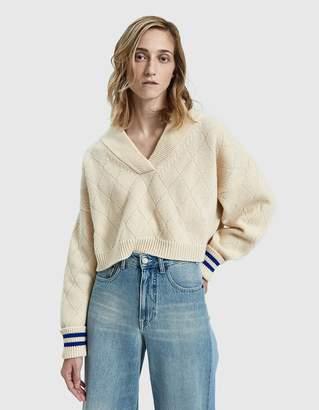 Maison Margiela Slouchy Cropped Sweater