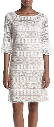 Jessica Howard Women's Lace Shift with Double Ruffle