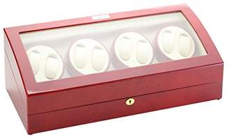 Off-White Diplomat Wood Eight Watch Winder with Leather Interior
