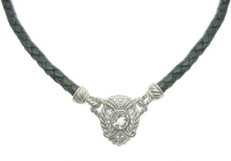 """Judith Ripka Sterling Silver & Leather 19"""" Necklace Insert"""