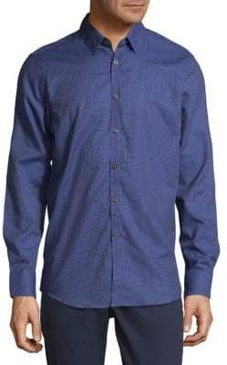 Report Collection Small Check Button-Down Shirt