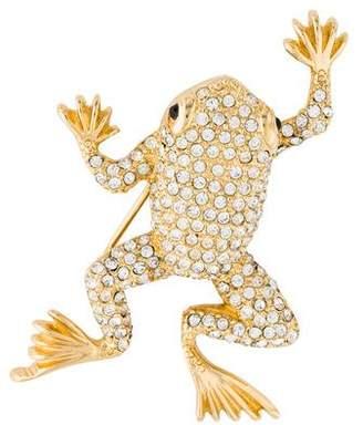 Christian Dior Crystal Frog Pin