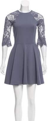 BB Dakota Lace-Trimmed Mini Dress