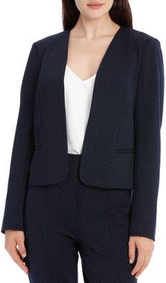 Miss Shop Bonnie Moto Jacket - Navy/White
