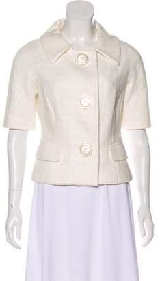 Michael Kors Bouclé Short Sleeve Jacket