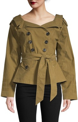 Marissa Webb Double-Breasted Trench Coat