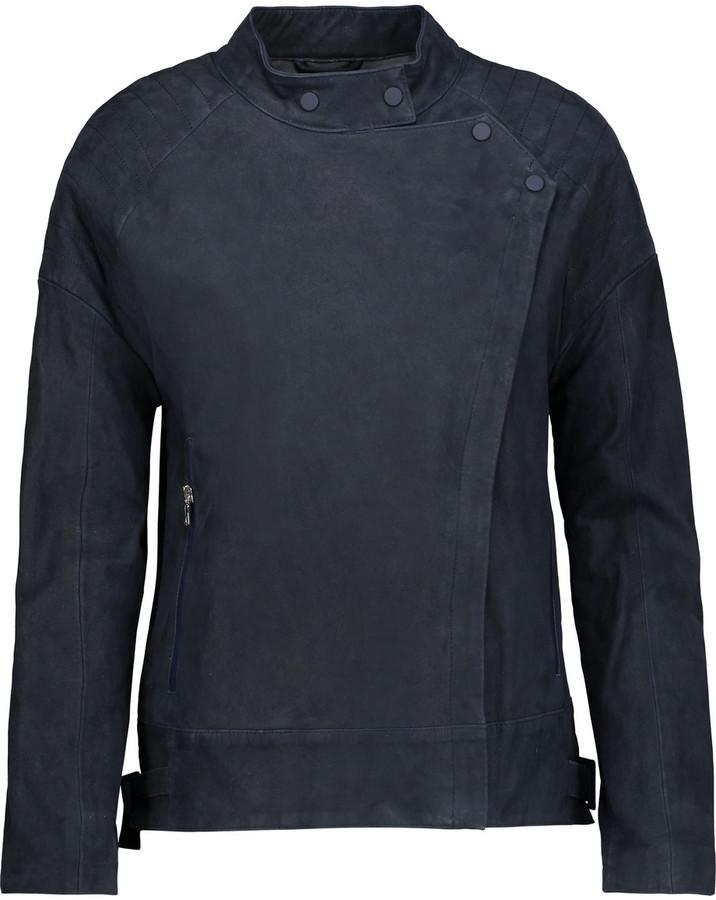 J BrandJ Brand Goodall leather-trimmed suede biker jacket
