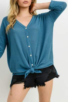 Cherish Button Down Knit Top