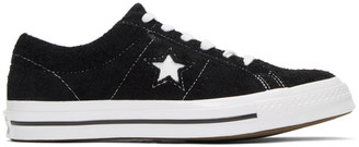 Converse Black and White Suede One Star OX Sneakers