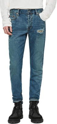 AllSaints Rex Ripped Slim Fit Jeans