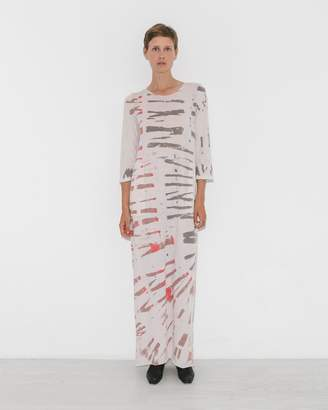 Raquel Allegra White Mountain Half Sleeve Caftan Dress
