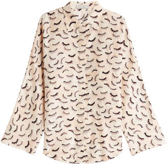d520a8e18a659 ... Nina Ricci Printed Silk Blouse