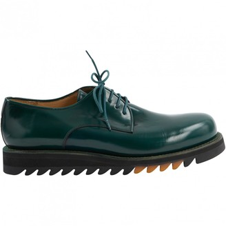 Jean-Baptiste Rautureau Jean Baptiste Rautureau Green Patent leather Lace ups