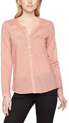 Kaffe Women's 10501038 Regular Fit V-Neck Long Sleeve Blouse - Pink - 12