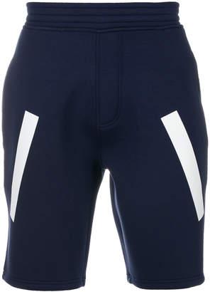 Neil Barrett line detail shorts