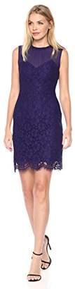 Anne Klein Women's Sleevless Sweetheart Illusion Neckline Sheath Dress