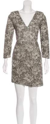Brian Reyes Textured Lace Dress