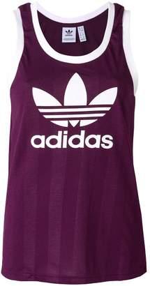 adidas logo print tank top