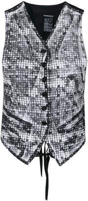 Ann Demeulemeester print effect waistcoat