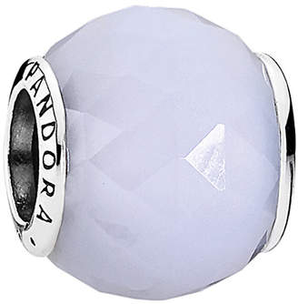 Pandora Geometric Facets Silver Crystal Charm