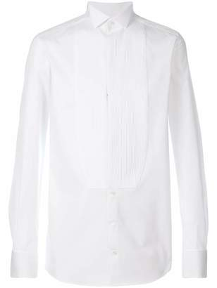 Dolce & Gabbana pleated plastron shirt