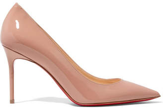 Christian Louboutin Décolleté 554 85 Patent-leather Pumps - Beige