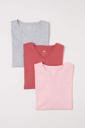 H&M 3-pack T-shirts Slim fit - Pink