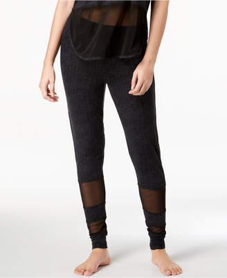Lush Ande Luxe Mesh-Panel Jogger Pajama Pants