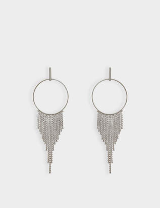 Helene Zubeldia Crystals Cascade Circle Earrings in Ruthenium and Crystals