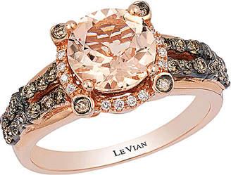 LeVian Le Vian 14K Rose Gold 1.83 Ct. Tw. Diamond & Morganite Ring