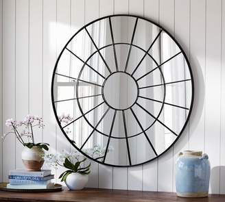 Pottery Barn Brannan Round Metal Mirror