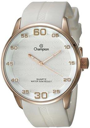 Champion (チャンピオン) - Champion ch30206zメンズ腕時計ホワイトダイヤルローズゴールドCase With 3dダイヤルマーカー