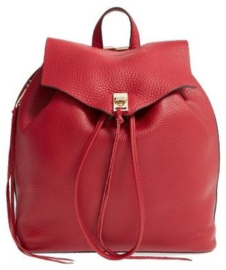 Rebecca Minkoff Darren Leather Backpack - Red $325 thestylecure.com