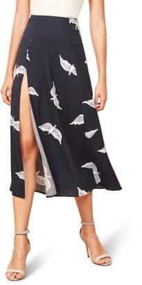 Reformation Zoe Side Slit Midi Skirt