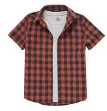 F&F T-Shirt And Checked Shirt Set 11-12 years
