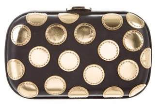 Loeffler Randall Polka Dot Leather Convertible Clutch