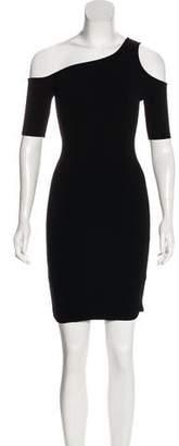 Helmut Lang HELMUT Asymmetrical Short Sleeve Dress