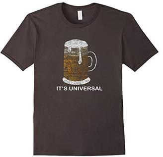 Beer It's Universal T-shirt - Beer Typography Tee Ver5