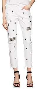 Blank NYC Blanknyc Women's The Ludlow Crop Girlfriend Jeans-White Size 26