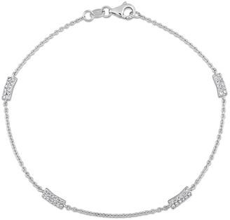 Diamond Select Cuts 18K 0.25 Ct. Tw. Diamond Station Bracelet